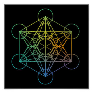 Metatron Cube Sacred Geometry Poster