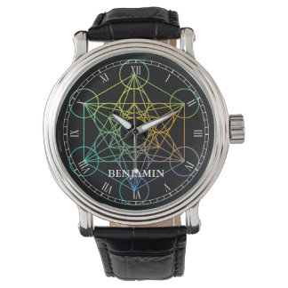 Metatron Cube Sacred Geometry Wrist Watch