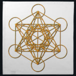 "Metatron Drop Shadow Cloth Napkin<br><div class=""desc"">Metatron is the supernatural that shows all things are connected. Our Creator had created this magnificent universe with such intense energy that falls into perfect order with love and vibrational frequency. Sacred Geometry symbols show how all things are connected. There are energy in symbols that God has put into and...</div>"
