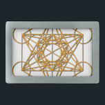 "Metatron Drop Shadow Rectangular Belt Buckle<br><div class=""desc"">Metatron is the supernatural that shows all things are connected. Our Creator had created this magnificent universe with such intense energy that falls into perfect order with love and vibrational frequency. Sacred Geometry symbols show how all things are connected. There are energy in symbols that God has put into and...</div>"
