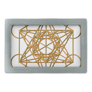 Metatron Drop Shadow Rectangular Belt Buckle