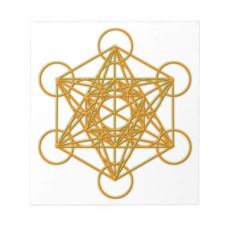 Metatron Gold Glow Notepad