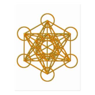 Metatron Gold Glow Postcard
