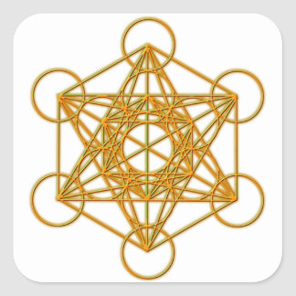 Metatron Gold Glow Square Sticker