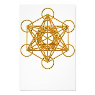 Metatron Gold Glow Stationery