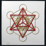 "Metatron Merkaba Cloth Napkin<br><div class=""desc"">Metatron is the supernatural that shows us how all things are connected.</div>"