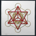 """Metatron Merkaba Cloth Napkin<br><div class=""""desc"""">Metatron is the supernatural that shows us how all things are connected.</div>"""