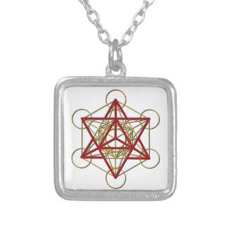 Metatron Merkaba Square Pendant Necklace