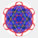 Metatron RedBlue Classic Round Sticker