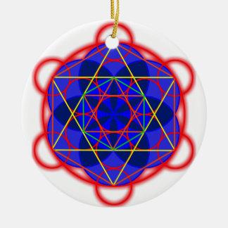 Metatron RedBlue Christmas Ornament