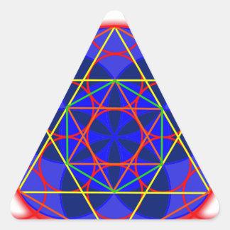 Metatron RedBlue Calcomanías De Triangulos
