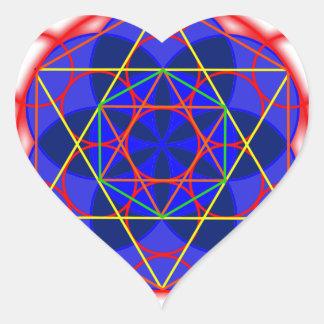 Metatron RedBlue Pegatina En Forma De Corazón