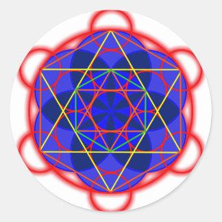 Metatron RedBlue Round Sticker