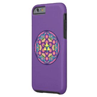 Metatron's Cube Merkaba on Flower of life Tough iPhone 6 Case