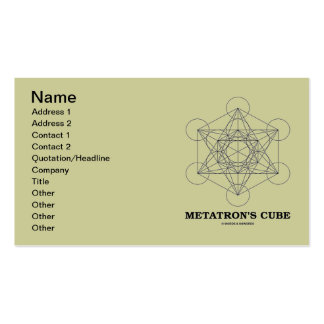 Metatron s Cube Sacred Geometry Business Card