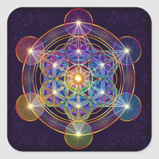 Metatron s Cube with Flower of Life Sticker