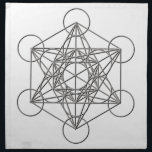 "Metatron Silver Shadow Napkin<br><div class=""desc"">Metatron is the supernatural that shows all things are connected. Our Creator had created this magnificent universe with such intense energy that falls into perfect order with love and vibrational frequency. Sacred Geometry symbols show how all things are connected. There are energy in symbols that God has put into and...</div>"