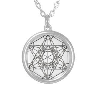 Metatron Silver Shadow Round Pendant Necklace