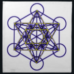 "MetatronBlueStar Cloth Napkin<br><div class=""desc"">Metatron is the supernatural that shows how all things are connected.</div>"