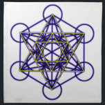 """MetatronBlueStar Cloth Napkin<br><div class=""""desc"""">Metatron is the supernatural that shows how all things are connected.</div>"""