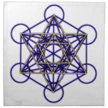 MetatronBlueStar Cloth Napkin<br><div class='desc'>Metatron is the supernatural that shows how all things are connected.</div>
