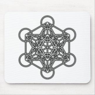 Metatron's Cube (Black) Mouse Pad