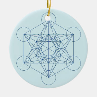 Metatron's Cube Ceramic Ornament