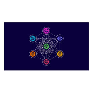 Metatrons Cube, Chakras, Cosmic Energy Centers Business Card
