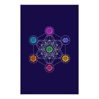Metatrons Cube, Chakras, Cosmic Energy Centers Personalized Flyer