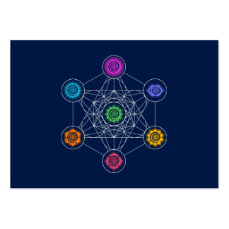 Metatrons Cube, Chakras, Cosmic Energy Centers Large Business Card