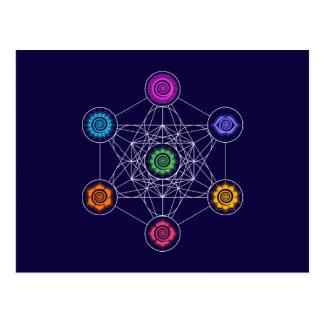 Metatrons Cube, Chakras, Cosmic Energy Centers Postcard