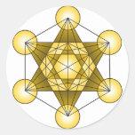 Metatron's Cube Classic Round Sticker