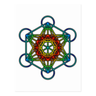 Metatron's Cube (Color 1) Postcard
