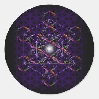 Metatron's Cube/Flower of Life #2 Classic Round Sticker