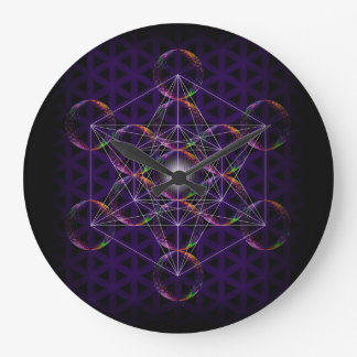 Metatron's Cube/Flower of Life #2 Large Clock
