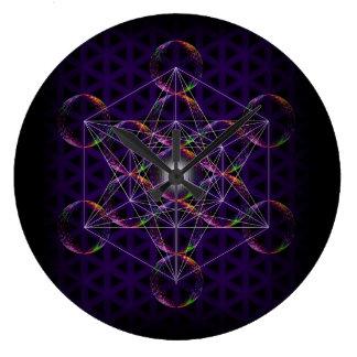 Metatron's Cube/Flower of Life #2 Large Clock