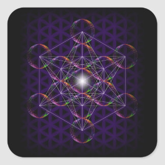 Metatron's Cube/Flower of Life #2 Square Sticker