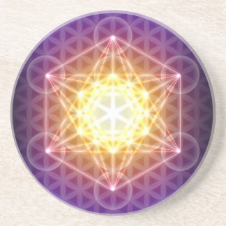 Metatron's Cube/Flower of Life Drink Coaster