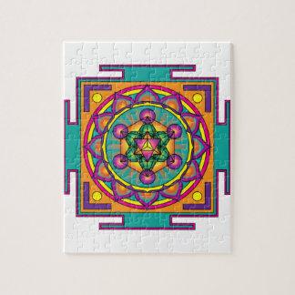 Metatron's Cube Mandala Jigsaw Puzzles