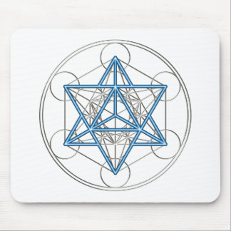 Metatrons cube - Merkaba - star tetrahedron Mouse Pad