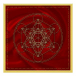 Metatrons cube - Merkaba - star tetrahedron Posters