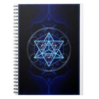 Metatrons cube - Merkaba - star tetrahedron Spiral Notebook