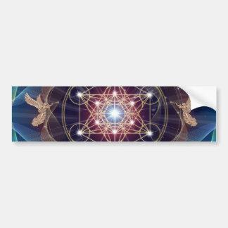 Metatron's Cube - Merkabah Bumper Sticker