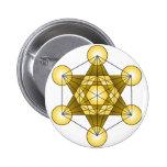 Metatron's Cube Pinback Button