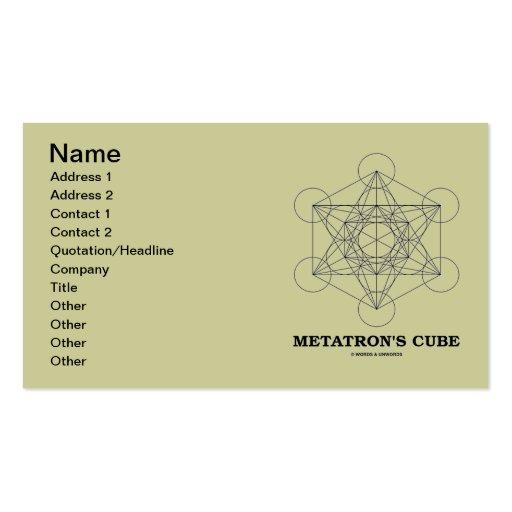 Metatron's Cube (Sacred Geometry) Business Card