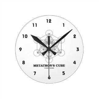 Metatron's Cube (Sacred Geometry) Round Clock