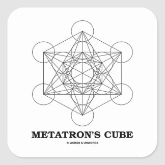 Metatron's Cube (Sacred Geometry) Square Sticker
