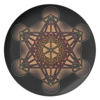 Metatron's Cube - Sacred Geometry Symbol Dinner Plate