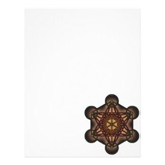 Metatron's Cube - Sacred Geometry Symbol Letterhead