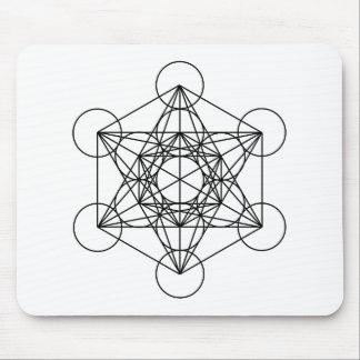 Metatron's Cube (White) Mouse Pad